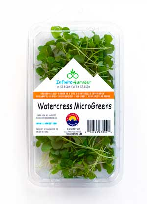 watercress micro greens from Infinite Harvest, Colorado.